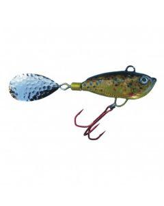 Spinner Jig mit Fischdekor Bachforelle / Blatt gold 60g