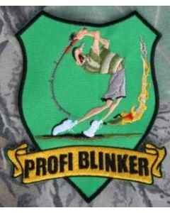 Profi Blinker Aufnäher hellgrün Jubiläumsangler