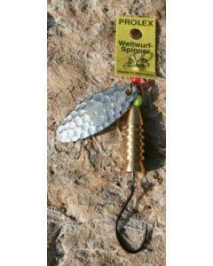 Prolex Spinner Oval gold - gehämmert Größe 0 - Einzelhaken