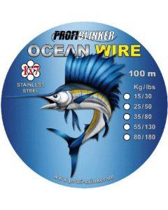 Ocean-Wire Stahlvorfächer 100 Meter - 15kg Tragkraft