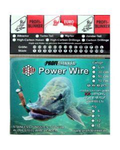 Power-Wire Stahlvorfächer 5 Meter - 15kg Tragkraft bronze