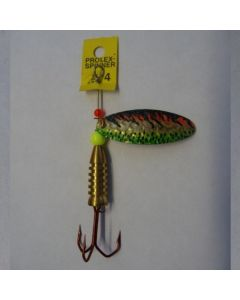 Prolex Spinner Oval- Effektlackierung gold fluogrün Größe 6