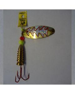 Oval - gold Reflexfolie silber metallic Größe 5
