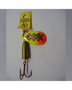 Prolex Spinner Tropfen - Fluo mit Reflexfolie gold metallic Größe 5