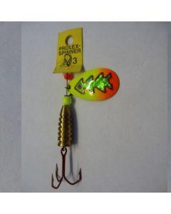 Prolex Spinner Tropfen - Fluo mit Reflexfolie grün metallic Größe 6