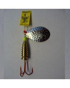 Profi Blinker Prolex Spinner Tropfen silber - gehämmert Größe 10