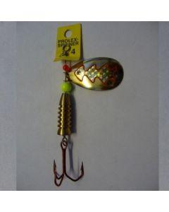Spinner Tropfen - gold Folie gold metallic Größe 6