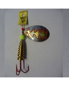 Spinner Tropfen - silber Folie gold metallic Größe 6