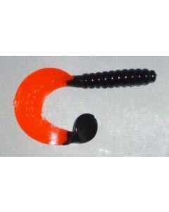 Profi Blinker Turbotail (A) 5cm schwarz-rot 10er Pack