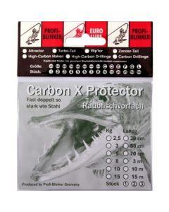 Carbon X Montage mit Schlaufe und Wirbel 70cm 8kg