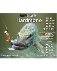 Hardmono-Vorfach aus Fluocarbon 50cm, Ø 0,70mm 3 Stück