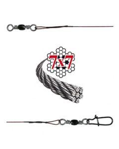 Soft-Wire Fertigmontage 7x7 mit Wirbel und Snap bronze 70cm Größe 12