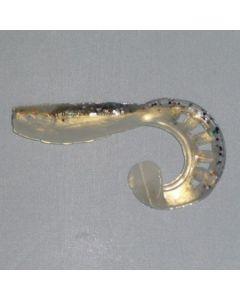 Profi Blinker Zandertail Kristallweiß (E) 13cm / 4er Pack